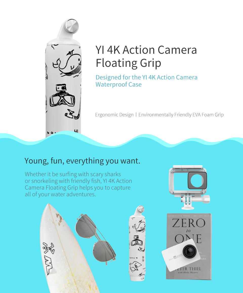 yi 4k action camera floating grip