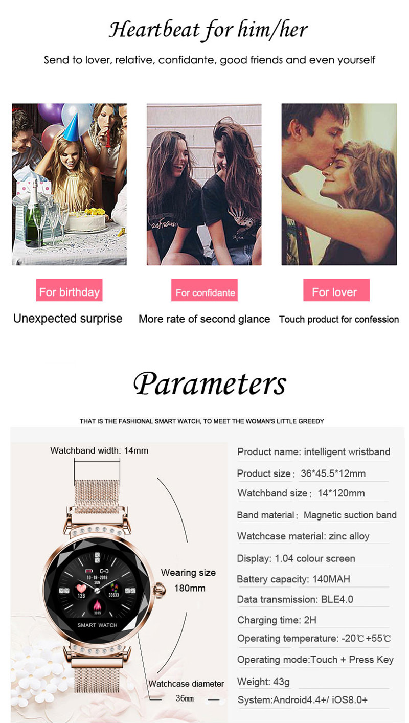 lemfo h2 female smartwatch sale