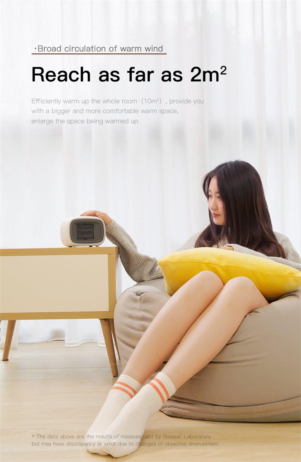 baseus portable fan heater online