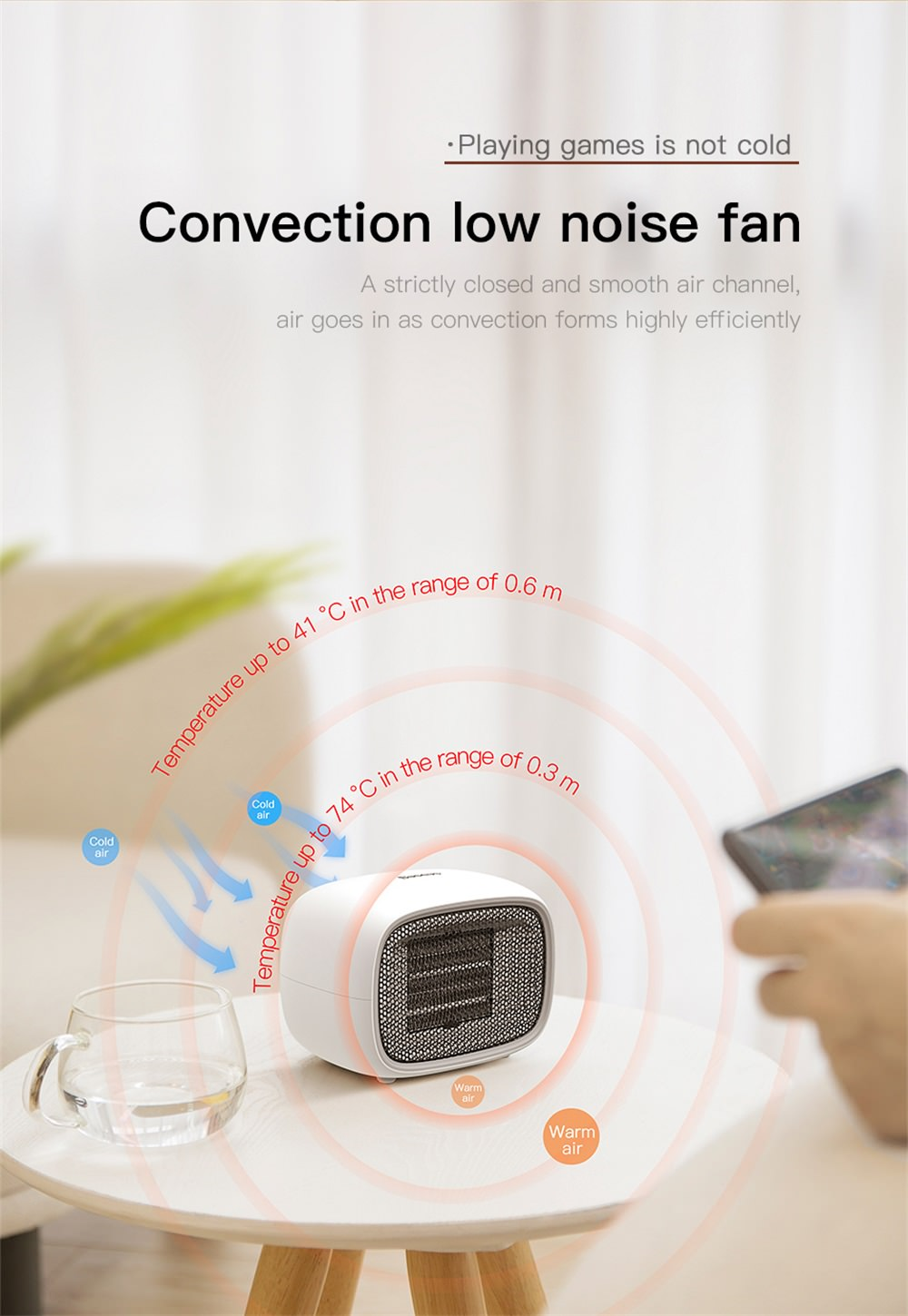 buy baseus portable fan heater