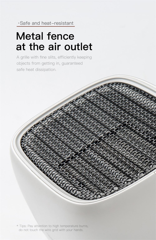baseus portable mini fan heater