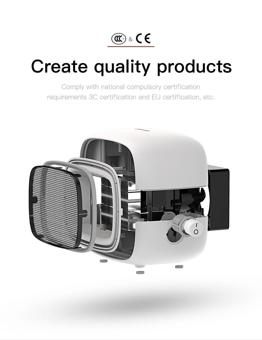 buy baseus portable mini fan heater