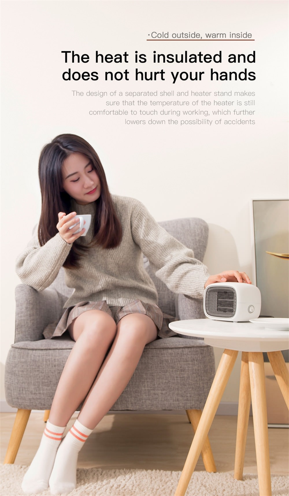 best baseus portable mini fan heater