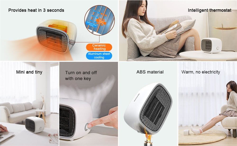 buy baseus electric fan heater