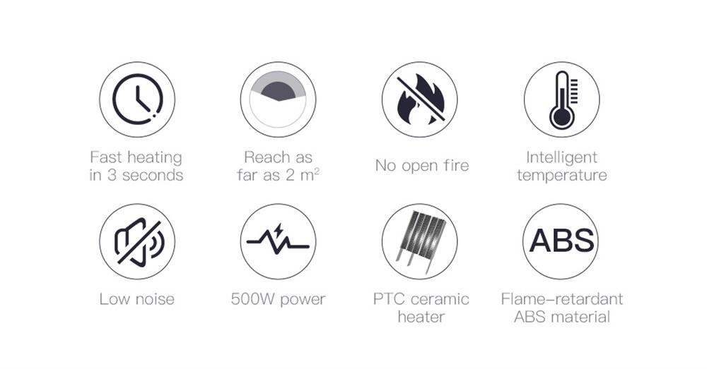 baseus electric fan heater online