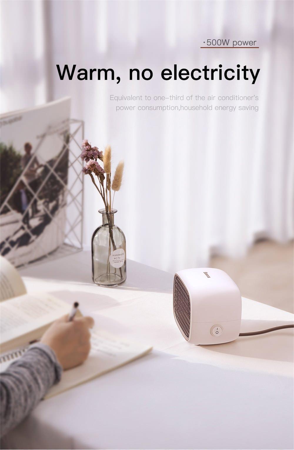 baseus electric mini fan heater