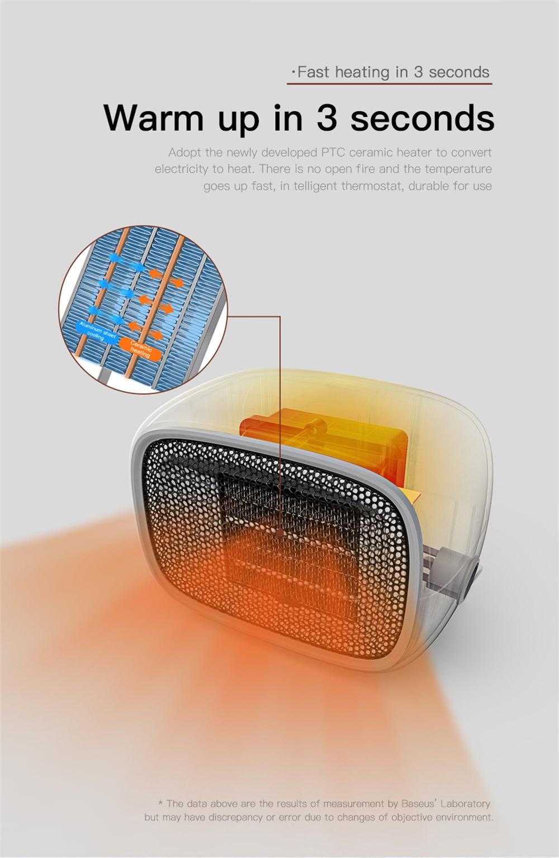 baseus portable fan heater