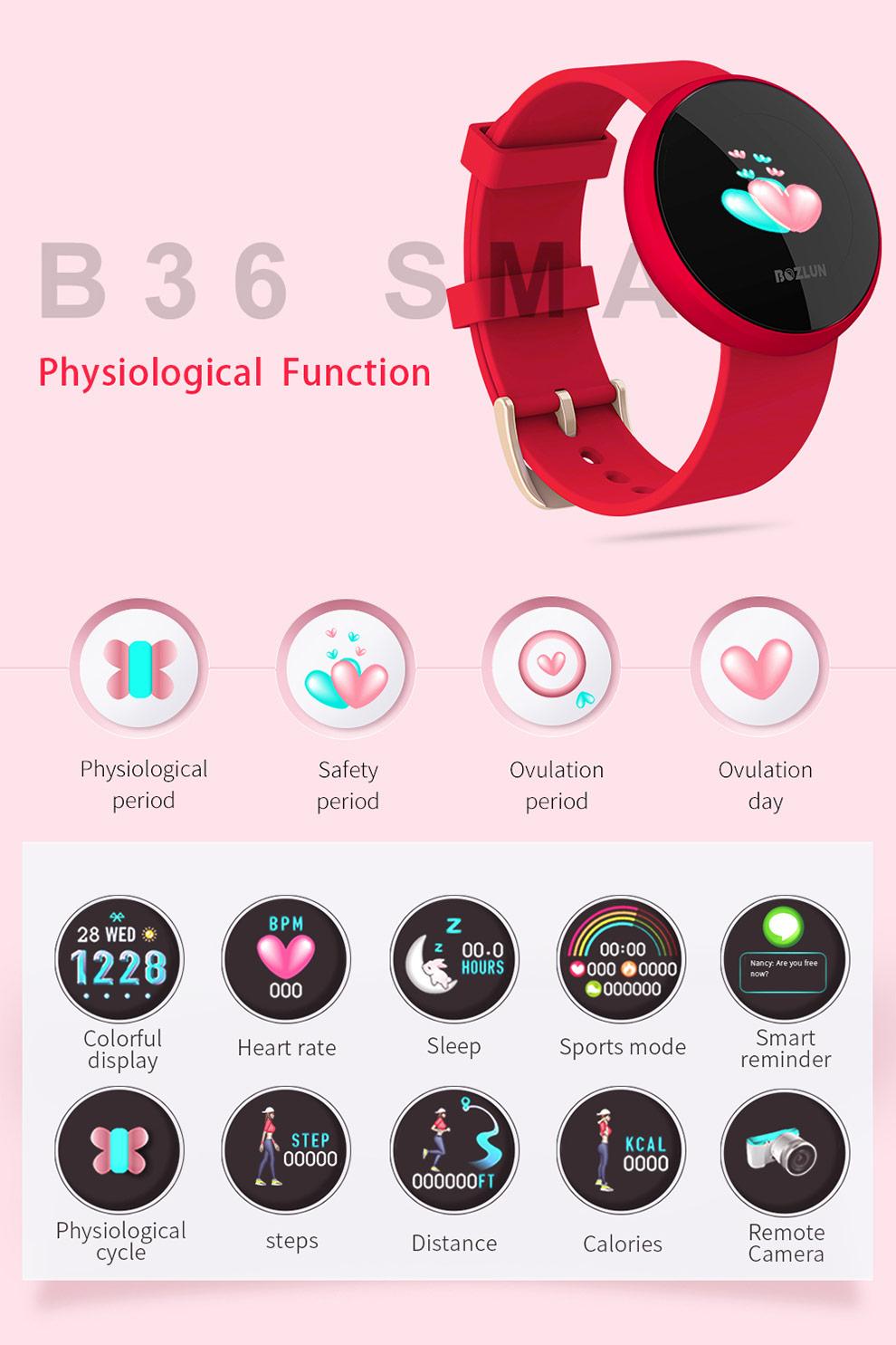 bozlun b36 women smartwatch