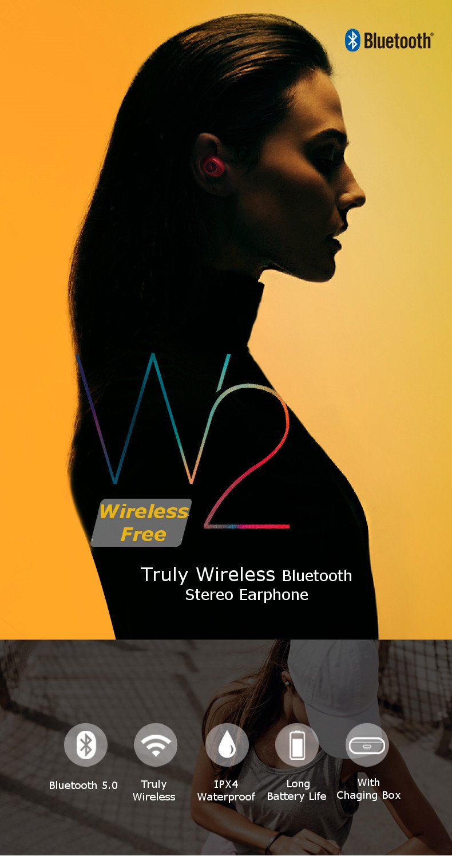 edifier w2 wireless stereo earphones
