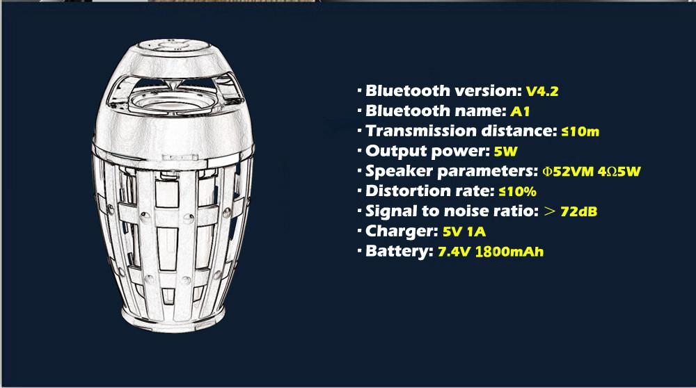 ejoy flame bluetooth speaker