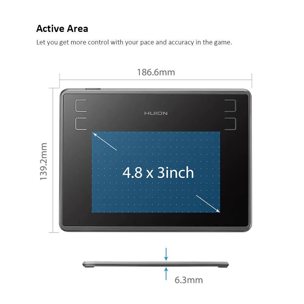 cheap huion h430p digital tablet