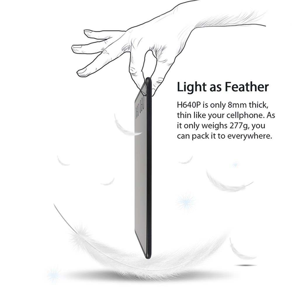 2018 huion h640p pen tablet