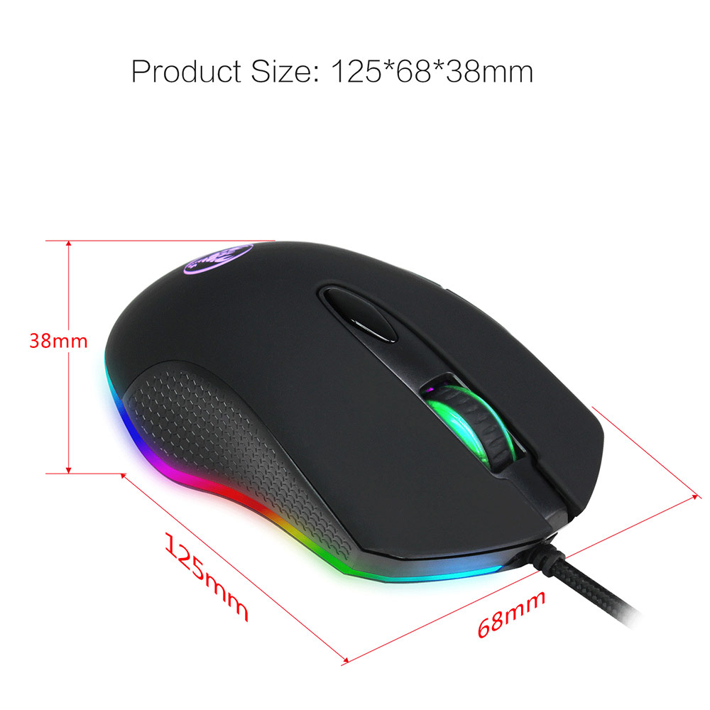 HXSJ S500 Wired RGB Backlit Gaming Mouse