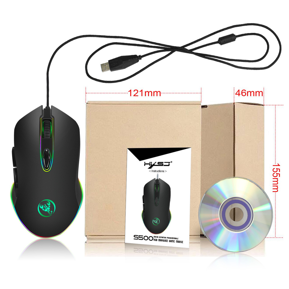 hxsj s500 wired mouse
