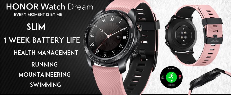 Honor Watch Dream: batería de una semana, administración de la salud, GPS y NFC Huawei-Honor-Watch-Dream-Smart-Watch-1