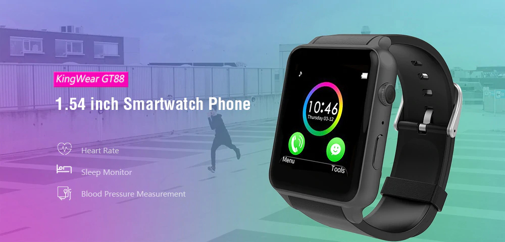 kingwear gt88 2g smartwatch