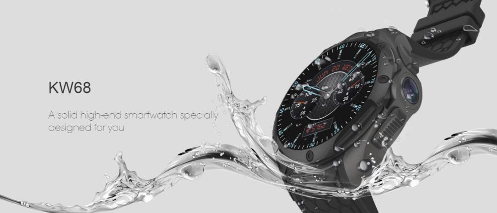El reloj inteligente a prueba de agua KingWear KW68 admite conexión 3G Kingwear-KW68-Waterproof-Smartwatch-1