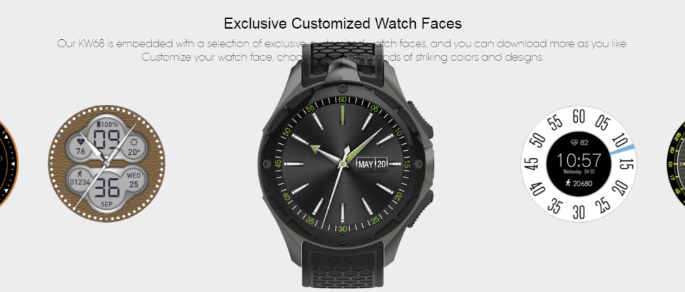 kingwear kw68 bluetooth smartwatch