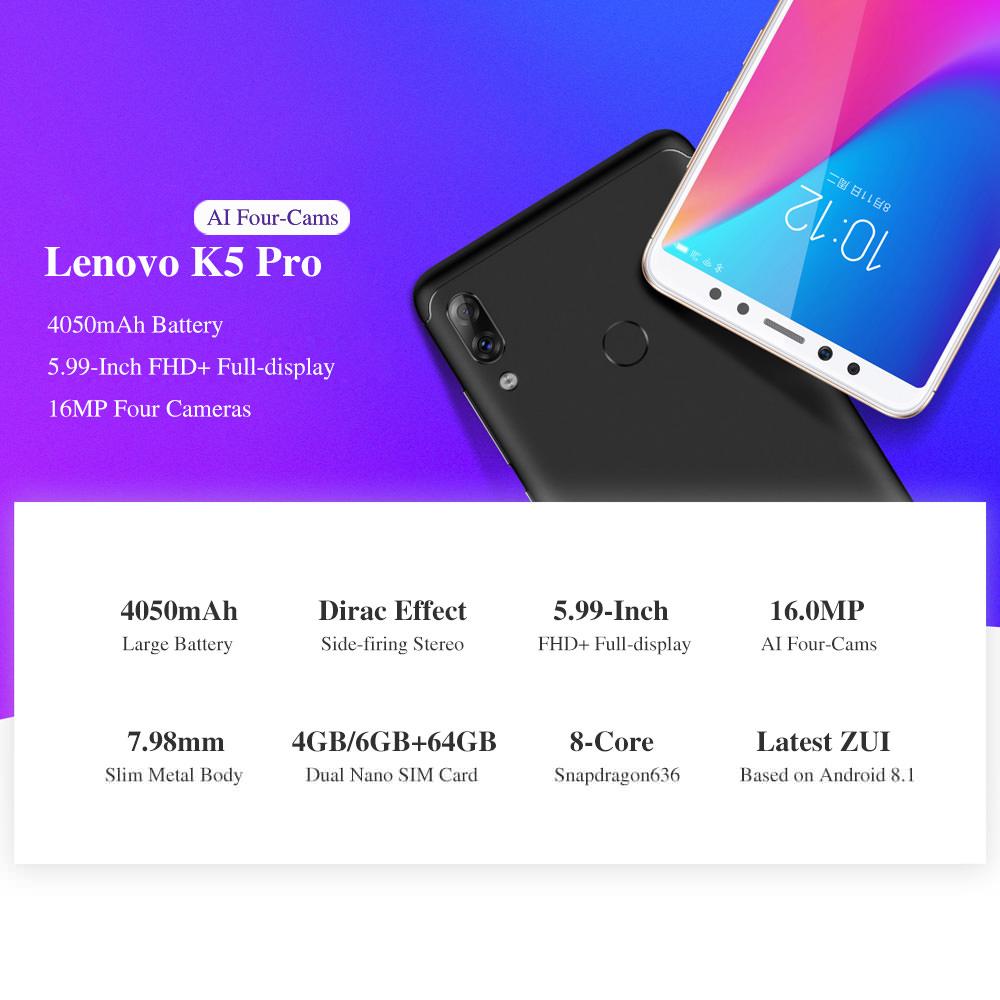 lenovo k5 pro 4g smartphone