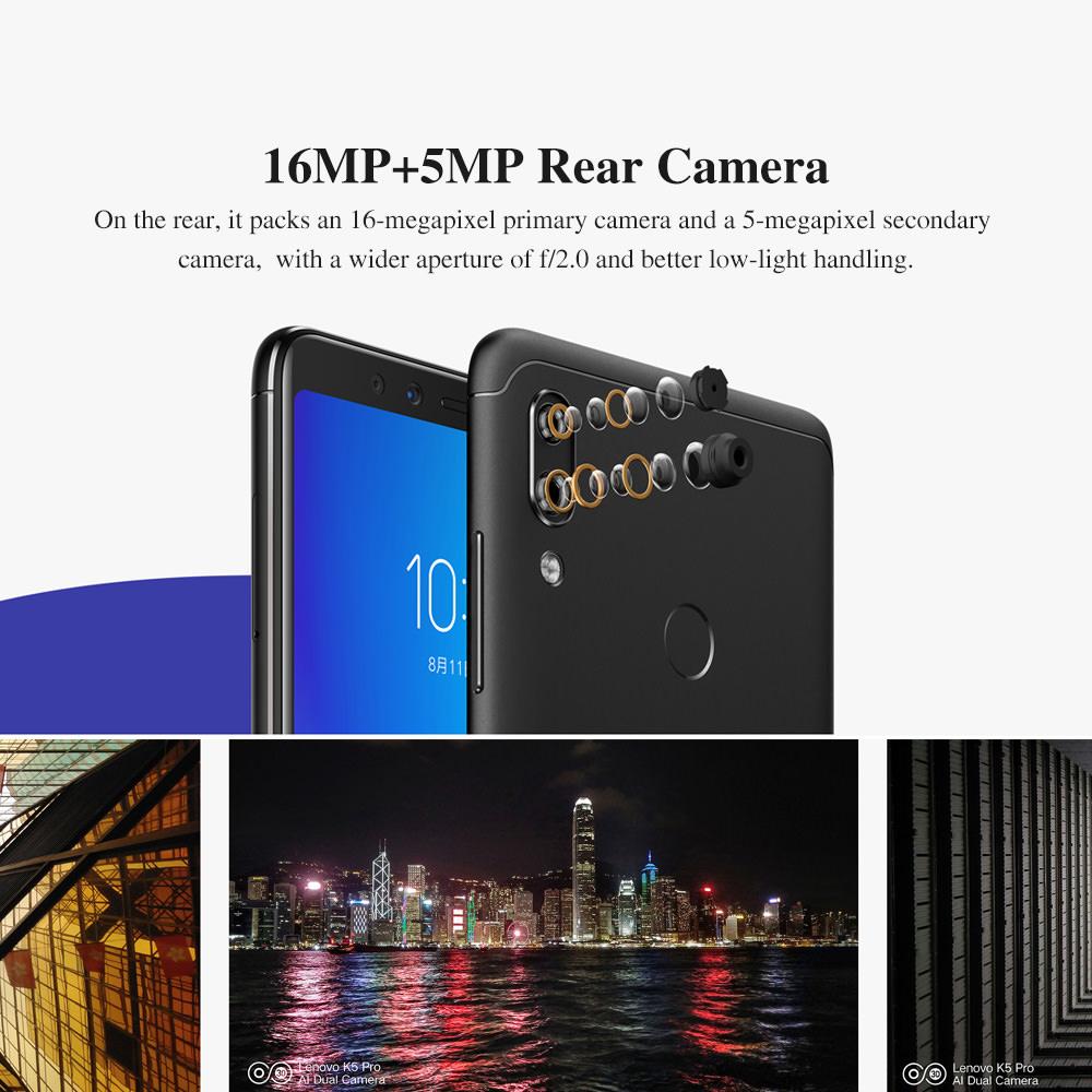 cheap lenovo k5 pro 4g smartphone