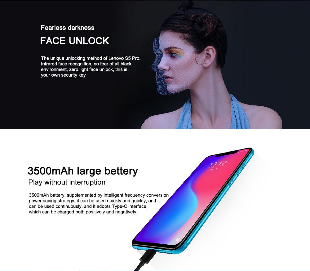 cheap lenovo s5 pro 4g smartphone