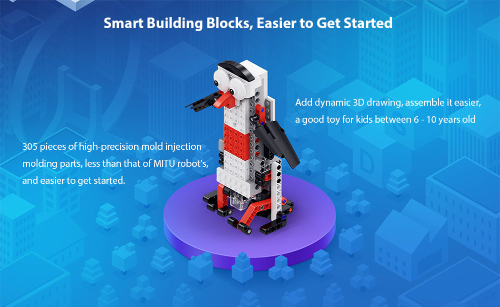 buy xiaomi mitu smart building block robot