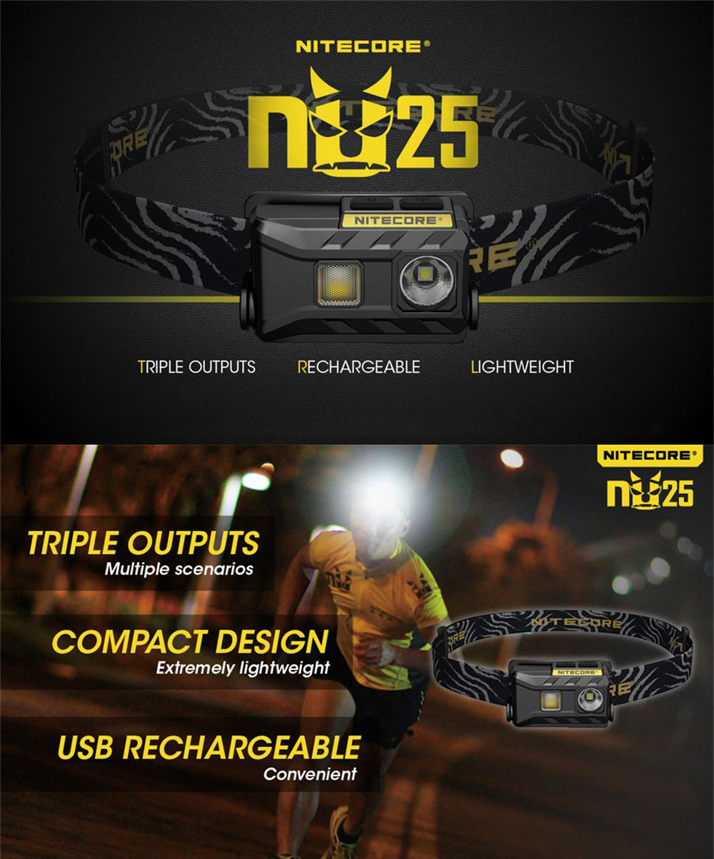 nitecore nu25 triple output headlamp