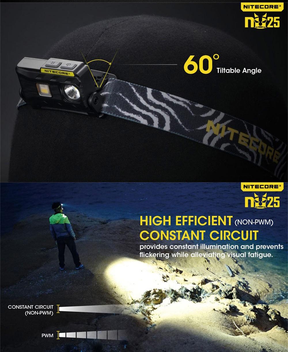 nitecore nu25 rechargeable headlamp