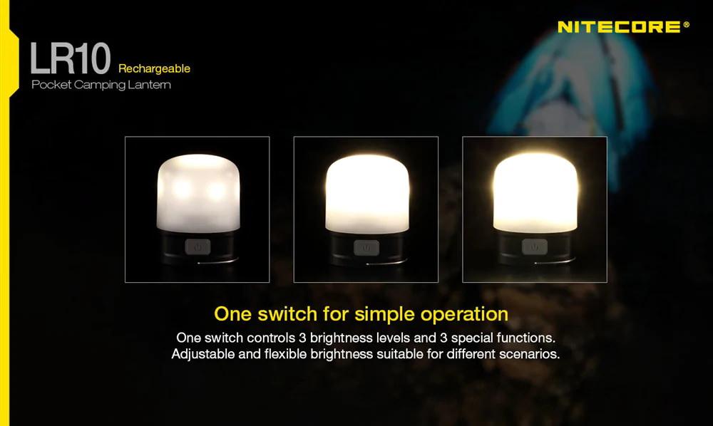 nitecore lr10 pocket camping lantern