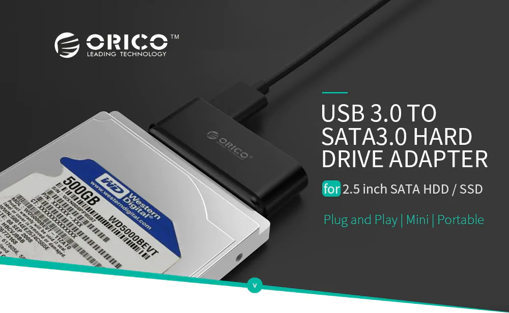 orico 20uts-bk hard drive adapter