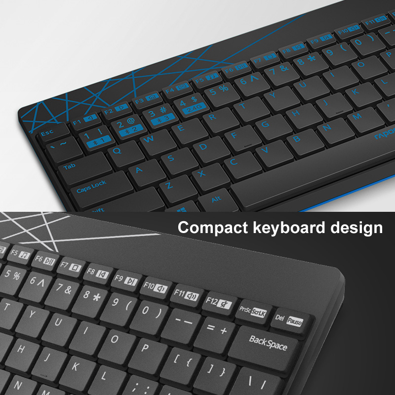 rapoo 8000m keyboard and mouse combo set