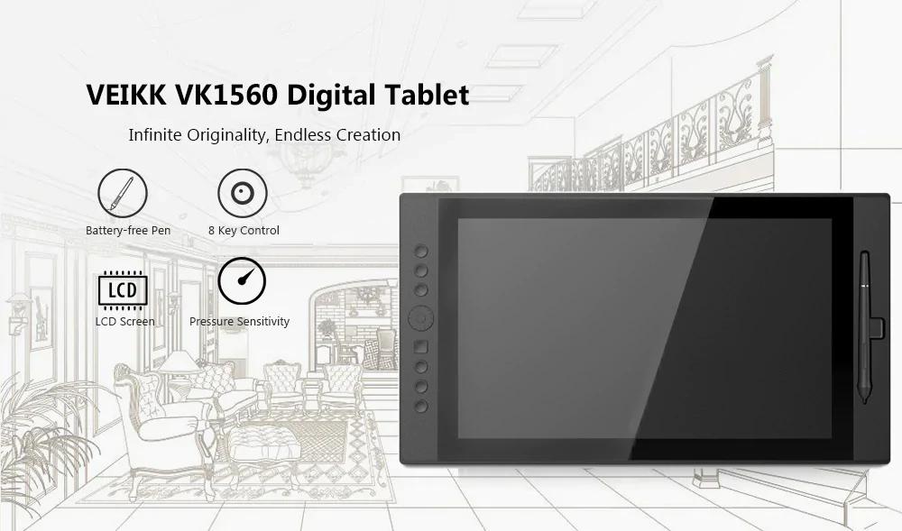 veikk vk1560 digital drawing tablet