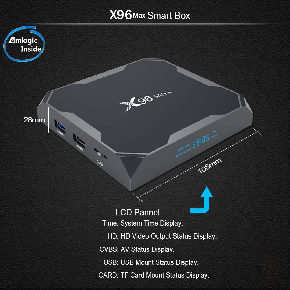 x96 max android tv box