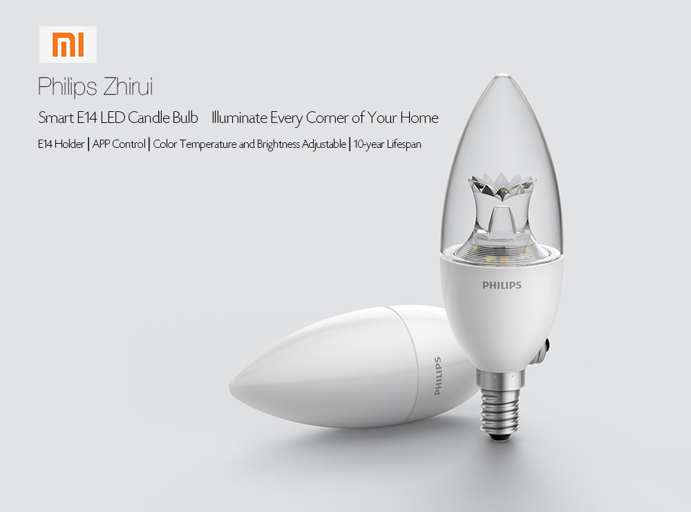 xiaomi philips smart e14 led candle bulb