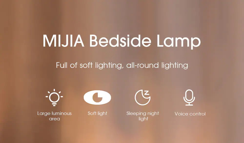 xiaomi mijia mjctd02yl led lampe de chevet