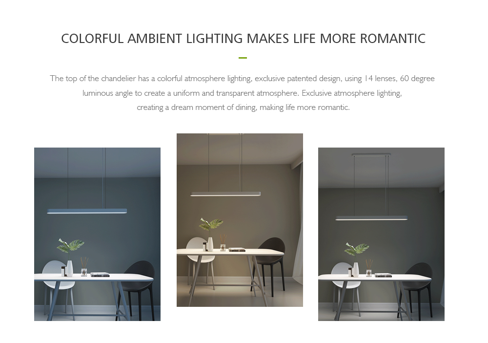 xiaomi yeelight led smart pendant lights