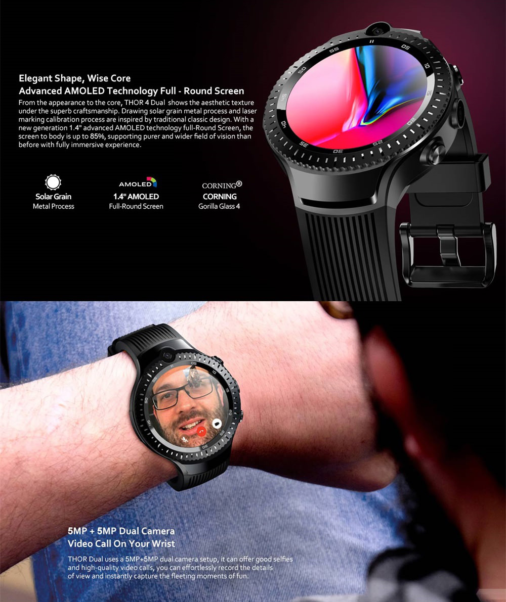 buy zeblaze thor 4 dual 4g smartwatch