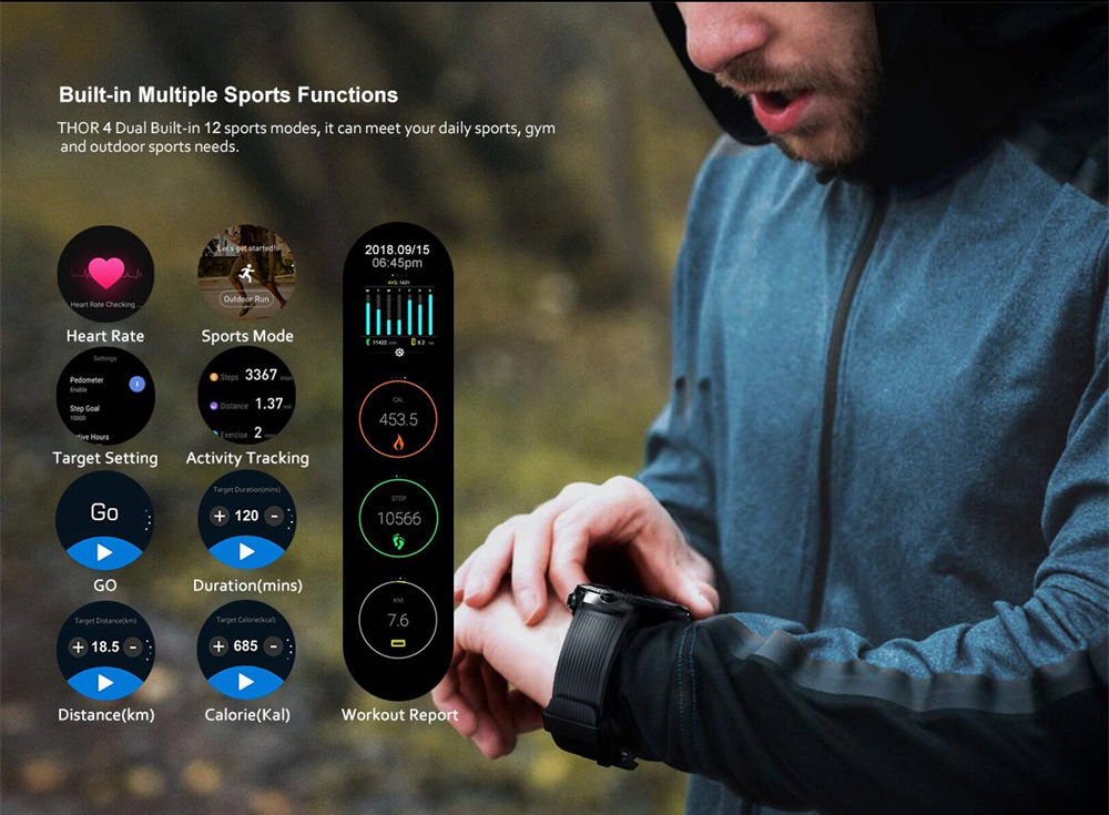 zeblaze thor 4 dual smartwatch price