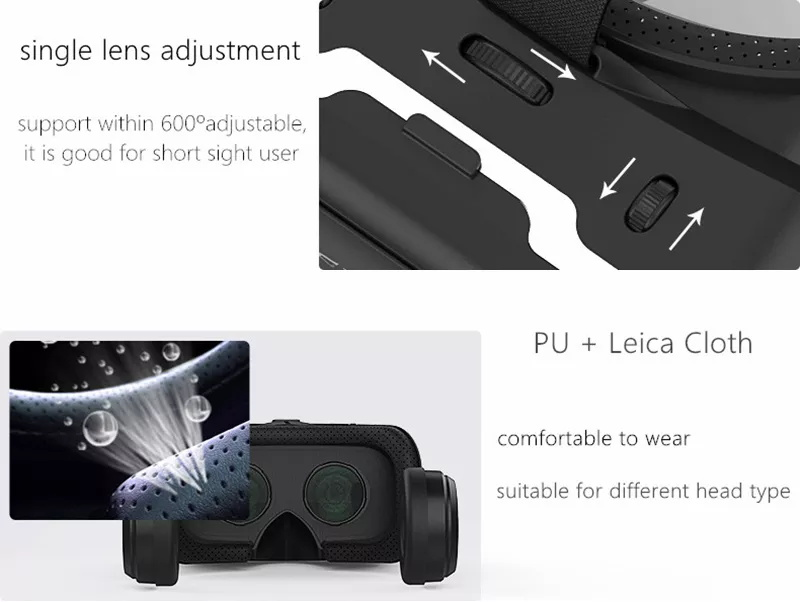 vr shinecon 6.0 g04e virtual reality glasses