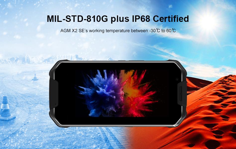 2019 agm x2 se 4g smartphone 64gb