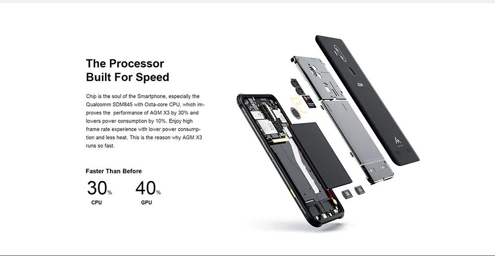 2019 agm x3 4g smartphone 256gb