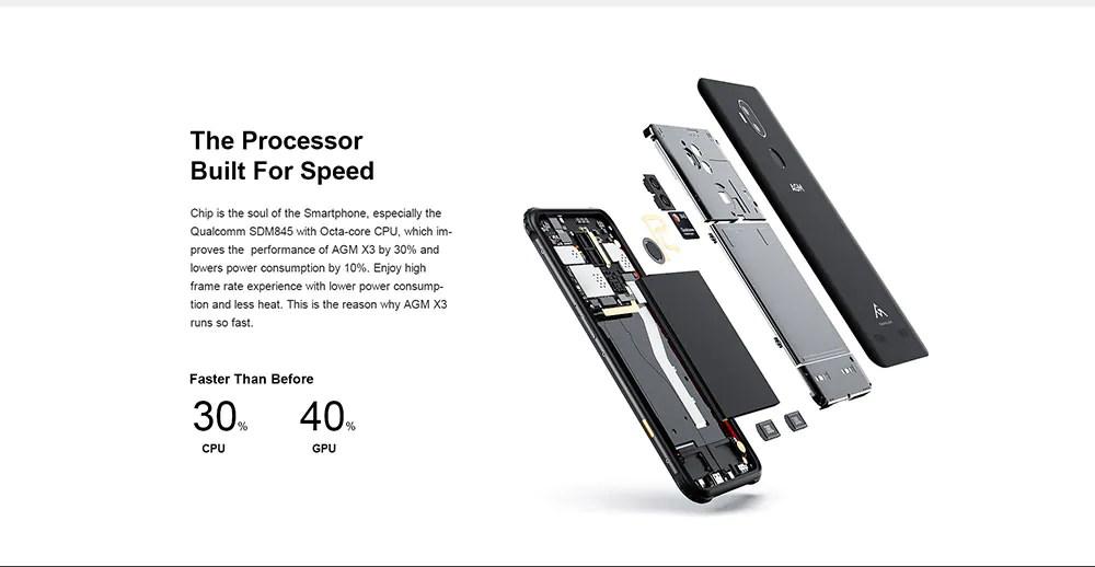 2019 agm x3 4g smartphone 64gb