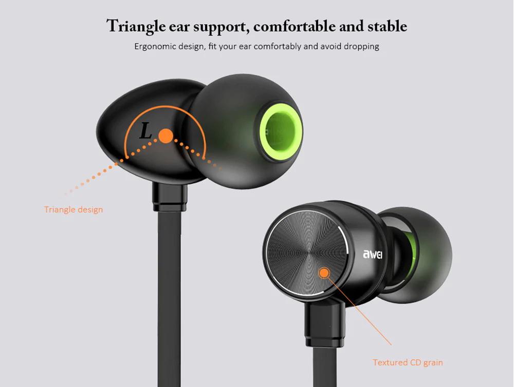 awei wt30 magnetic sports earphone