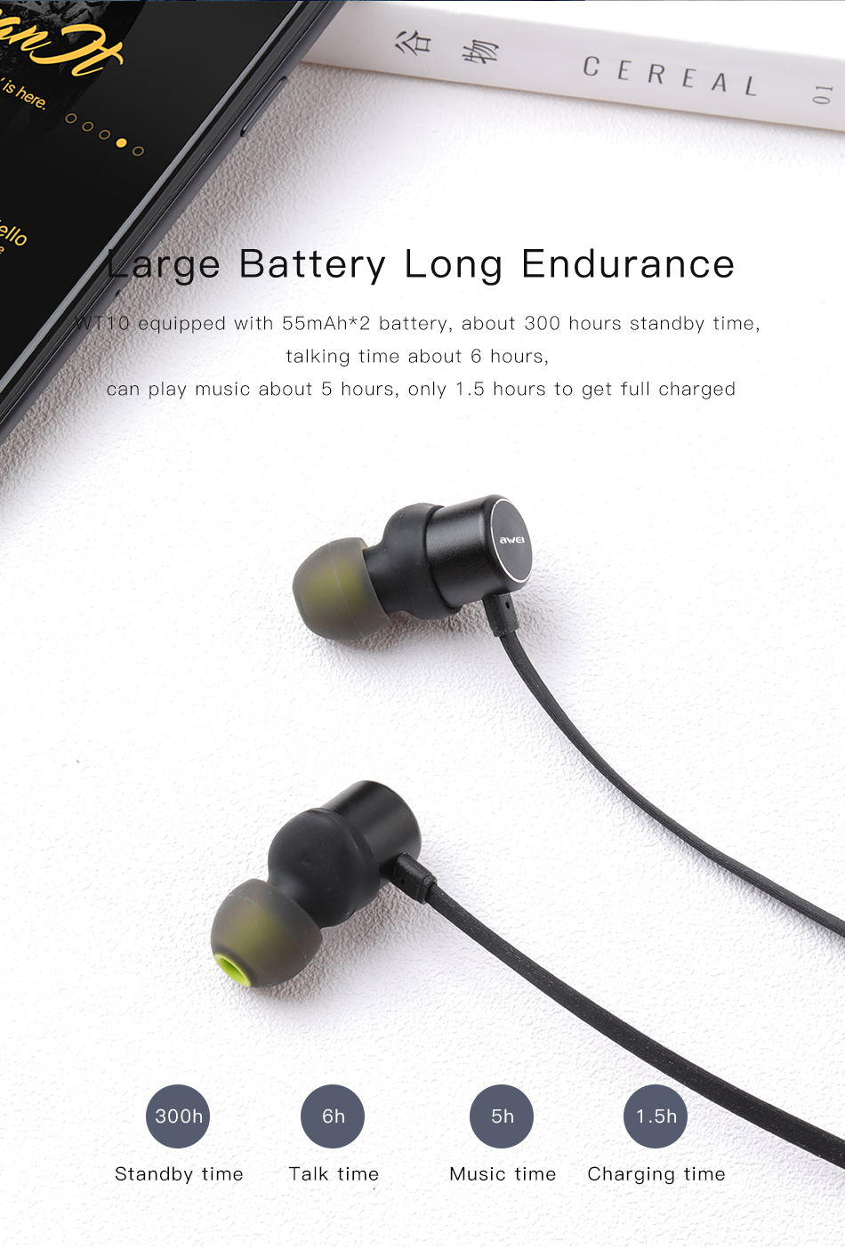 wt10 wireless bluetooth earphone