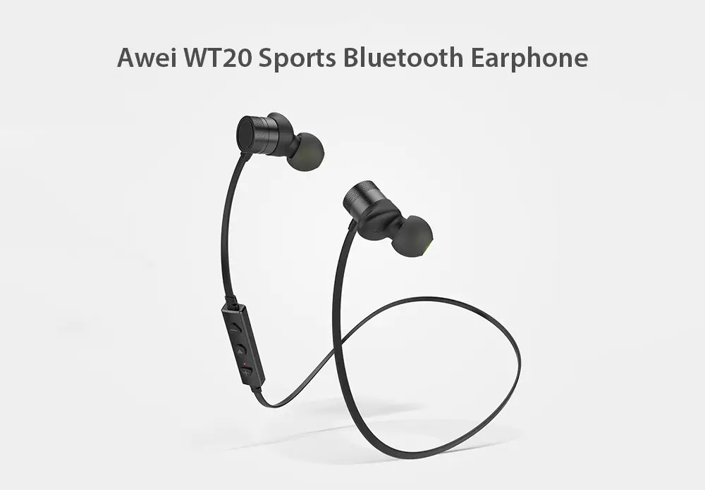 Awei Wt20 Sports Bluetooth Earphone Stereo Magnetic