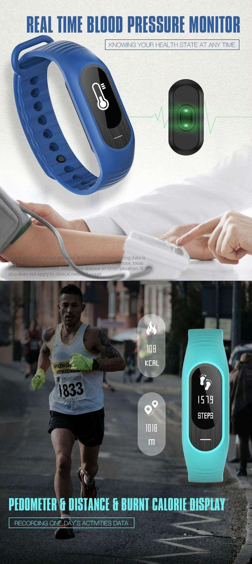 2019 b15p bluetooth smart wristband