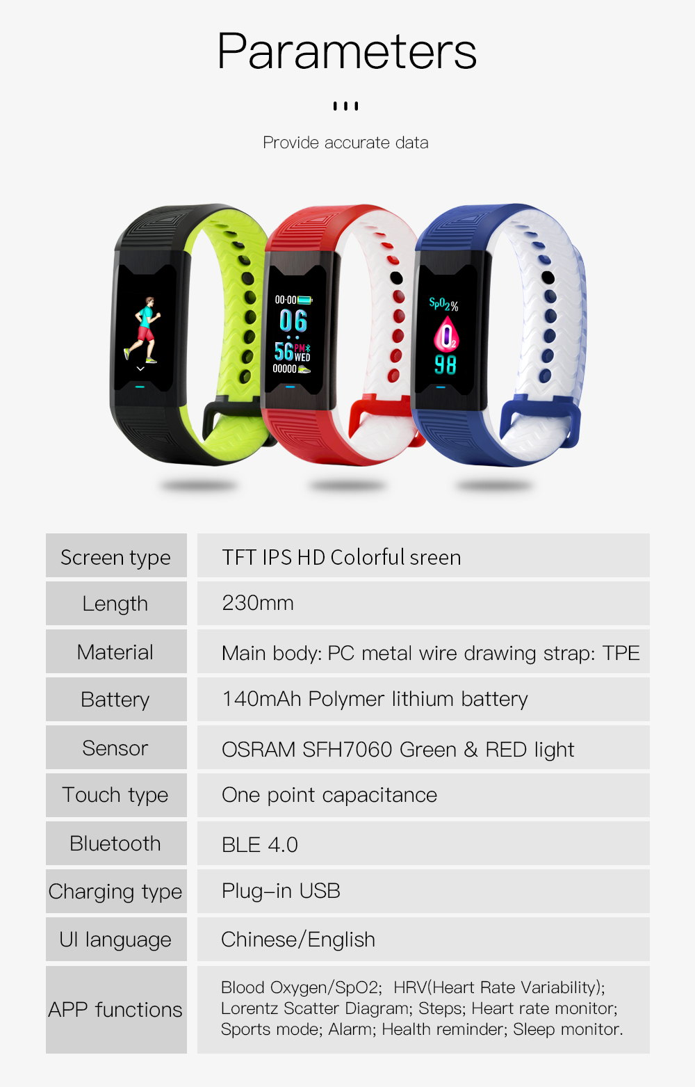 cheap b31 color screen smart bracelet