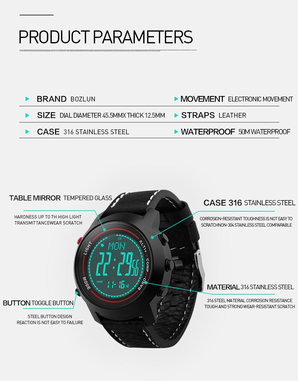 new bozlun mg03 outdoor sports watch