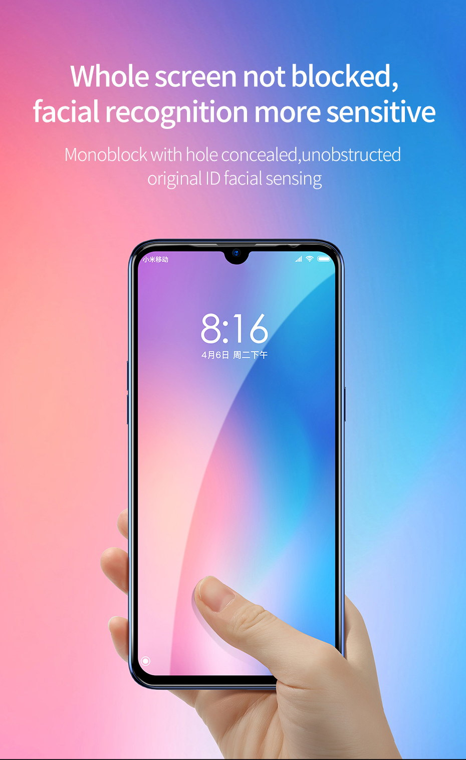 2019 baseus 0.3mm 3d tempered glass screen protector