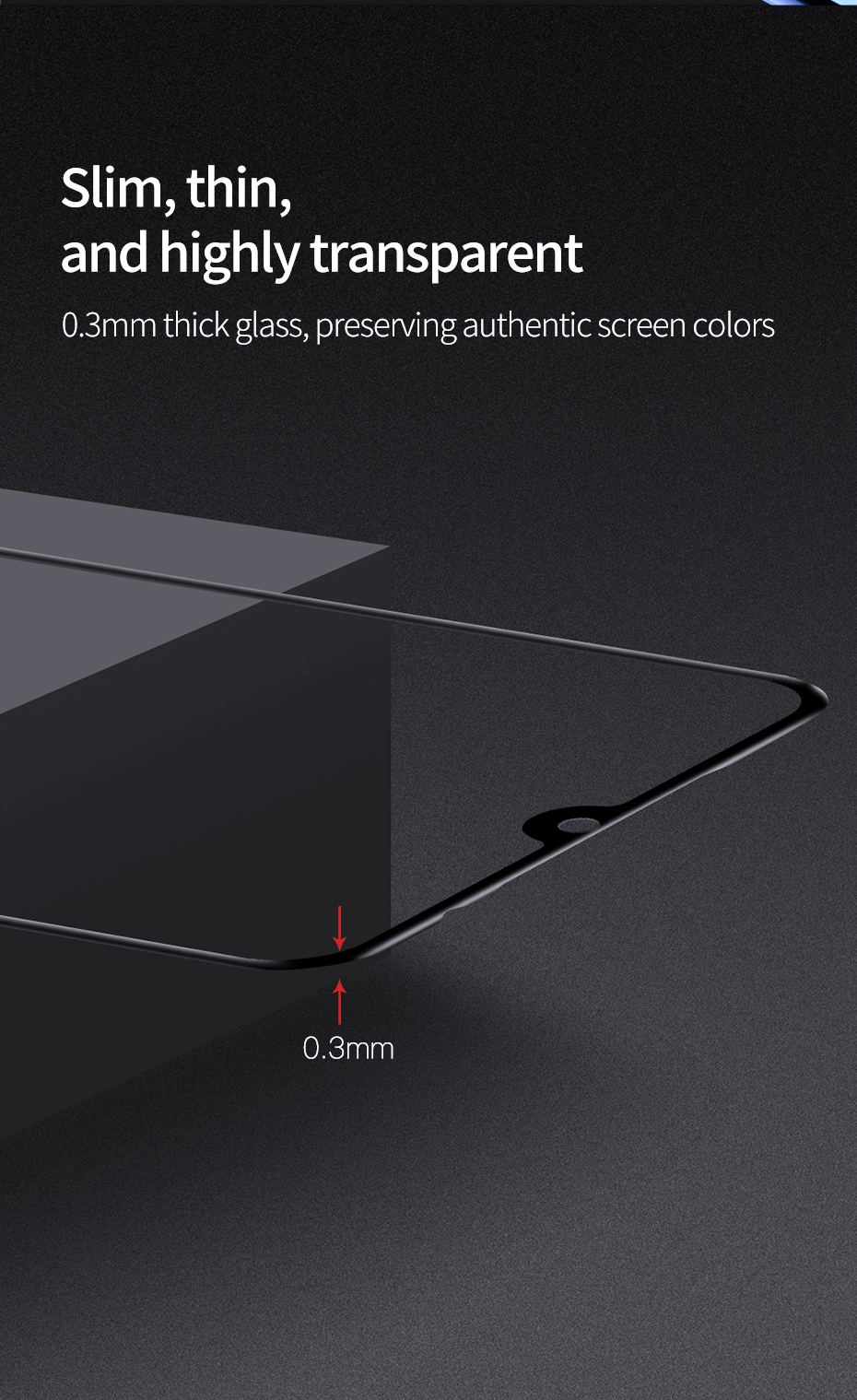 2019 baseus 0.3mm 3d screen protector